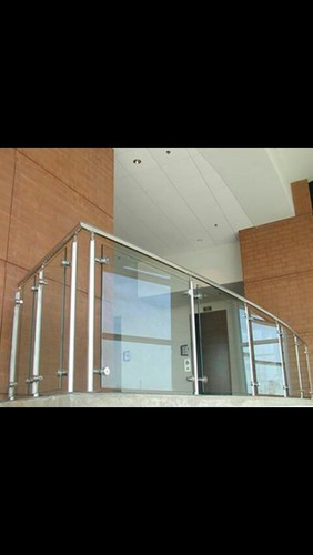 Stainless Steel Glass Balcony Railing at Rs 500/square ...