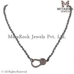 Handmade Stirling Silver Onyx Gemstone Necklace Jewelry