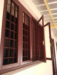 Teak Gi Steel Window