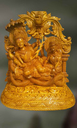 Wooden Sculpture of Vishnu-Togetherness of the Divine