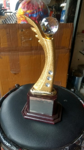 Cristal Gold Plated Trophy