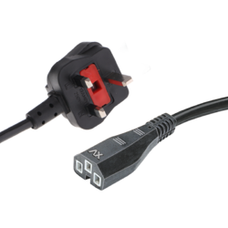 UK Plug Computer Cord With Built & In Fuse (Wire 23/36 SWG)