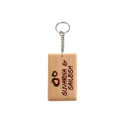 Wooden Engraved Keychain