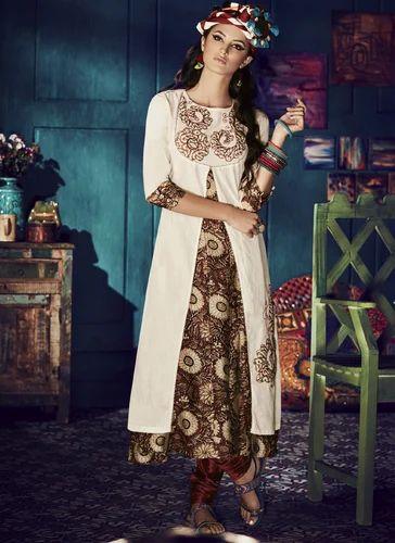 1eaf339878 Deepkala Silk Heritage Off- White Embroidered Anarkali - Deepkala ...