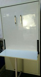 White Wall Mounted Bed with Study Table, With Box