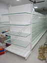 Glass Shelf Supermarket End Unit