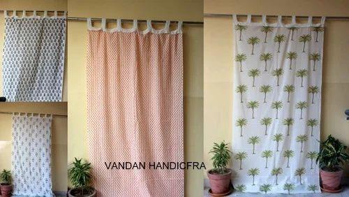 Hand Block Print Curtain Decorative