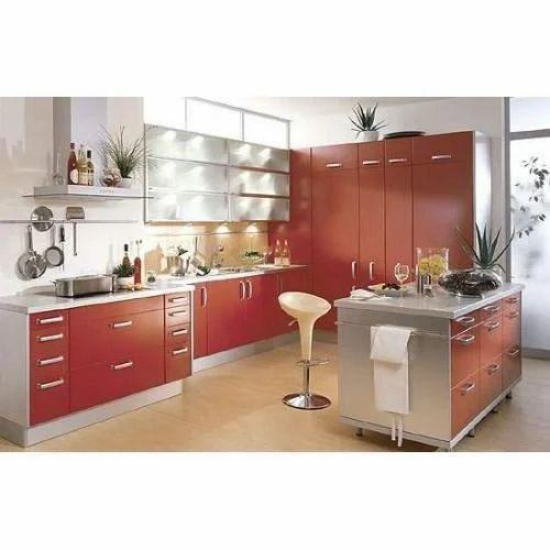 Residential Island Modular Kitchen, Warranty: 1-5 Years