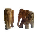 Sandalwood Carved Designer Elephant