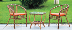 Cane Rattan Design Outdoor Wicker Coffee Set