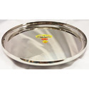 Vanshika Steel Center Silver Steel Thali
