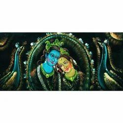 Painting - Unique Krishna & Radha