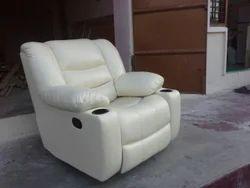 Classic Furn Single White Recliner Sofa