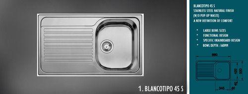 Blanco Kitchen Sink | Single Stainless Steel Blanco Kitchen Sink Rs 6000 Piece Id