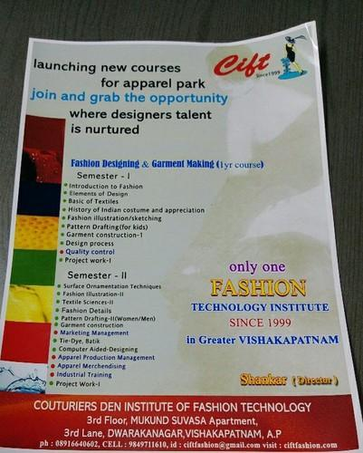 Cift Fashion Technology Institute Visakhapatnam 1 Month Tailoring And 1 Yr Fashion Designing And Garment Making