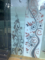Office Printed Glass