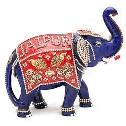 Meena Kundan Jewelry Work Elephant MT087