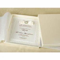 Book Style Luxury Wedding Invitation Card