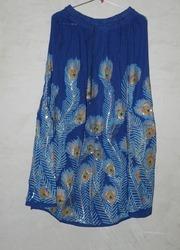 Blue Party Wear Girls Skirt