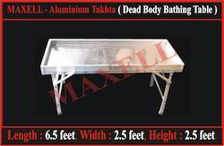 Maxell Aluminium Takhta ( Dead Body Bathing Table)