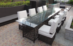 Comfy Style Outdoor Wicker Dining Table Set