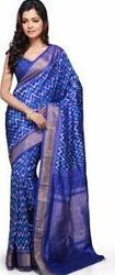 Pochampally Pure Silk Saree With Stunning Royal Blue Color