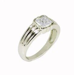 SHRI0587 Designer Silver Gents Ring