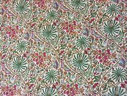 Rainforests Design White Block Printed Fabric