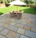 Light Yello Shape: Square Garden Sandstone Paving Slabs