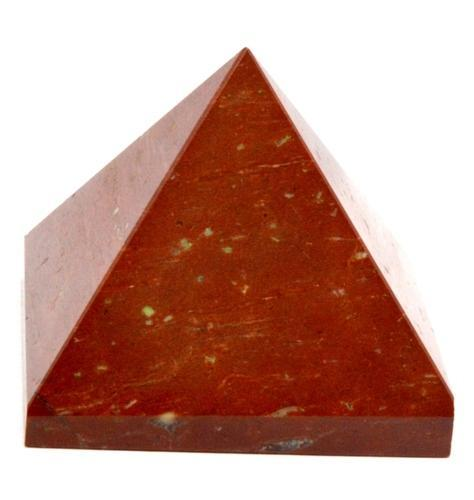 Natural Red Jasper Gemstone Healing Pyramid
