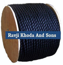 1/2 PP Rope Black - 1200 Ft Long 3-Strand Twist