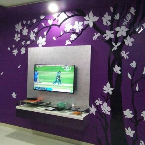 wall painting design. Tree Wall Art wall painting  Flower Design Painting Architect Interior
