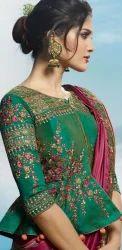 Silk Indian Stylish Elegant Indo Western Party Wear Saree