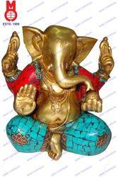 Ganesh Sitting W/out Base & Stone Work
