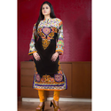 Ladies Chiffon Black Digital Printed Suit