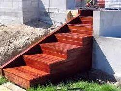 Outdoor Wooden Stairs, For Indoor, Wear Resistance: Standard