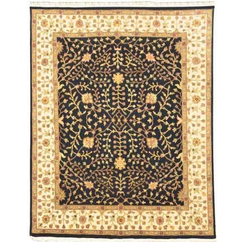 Black / Ivory RKD Hand Woven Rugs, Size: 8' x10'  Feet, For Floor