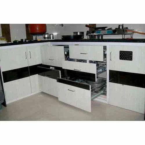 Pvc Modular Kitchen पीवीसी की मॉड्यूलर रसोई पीवीसी