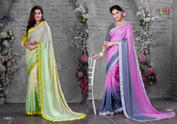 Colourful Designer Printed Work Sarees