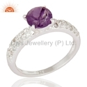 Amethyst Birthstone Wedding Rings