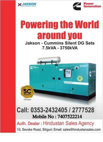 Jakson Cummins Generator\Dg Set - Hindustan Sales Agency, Siliguri
