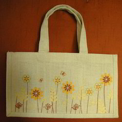 Designer Jute Shopping Bag