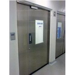 Silver Hinged Stainless Steel Hospital Door, Thickness: 45 Mm, Material Grade: SS304