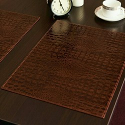 Dining table leather mat