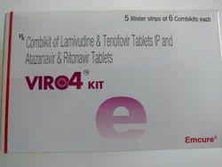 VIRO4 Kit - Combikit of lamivudine & Tenofovir Tab