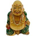 Wooden Laughing Buddha WP041