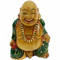 Wooden Laughing Buddha WP041