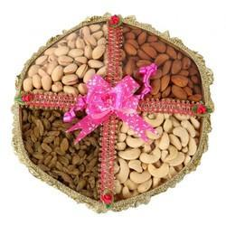 Brown Plastic Dry Fruits Gift Basket