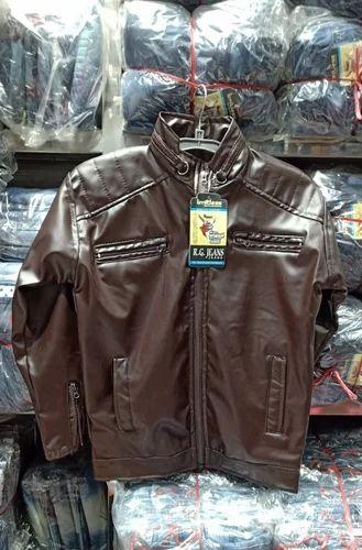 Six Colors Boys Leather Jackets