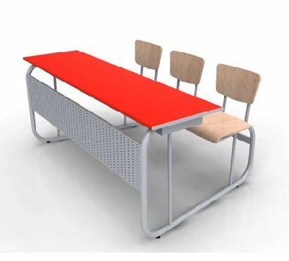 Three Seater Classroom Desk Cum Bench